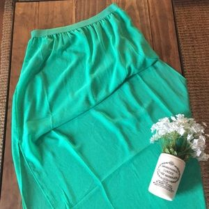 H&M High Low sheer skirt // size 10 // great cond.